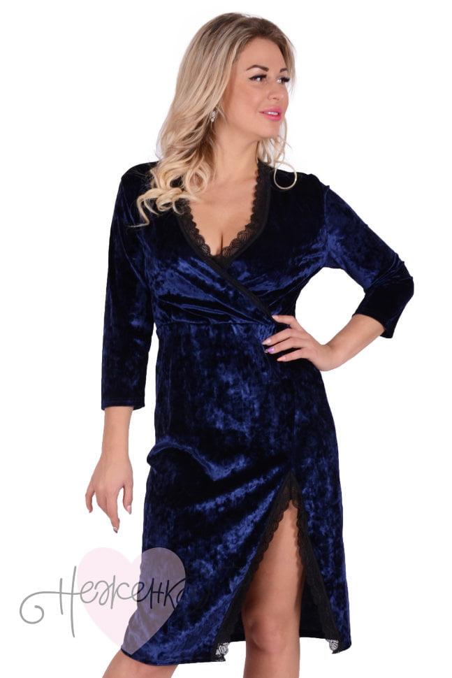 48b3860b691f Платье П 737 (индиго) - купить оптом за 750 руб. от производителя в ...